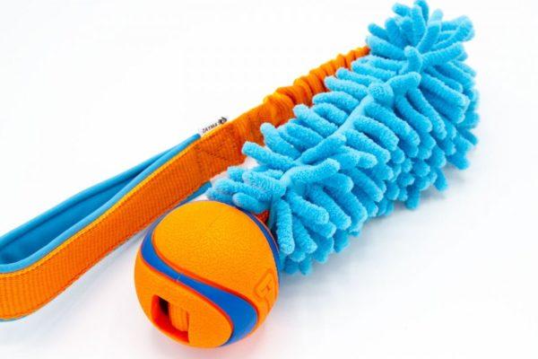 Sum Plast Ball mit Mop an Bungee Hundespielzeug