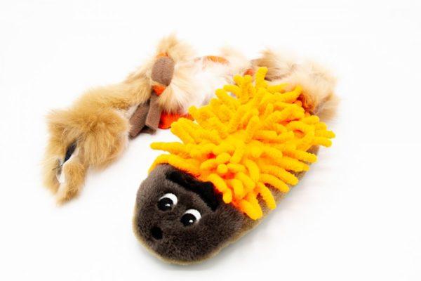 Hundespielzeug Plüsch Igel mit Fell
