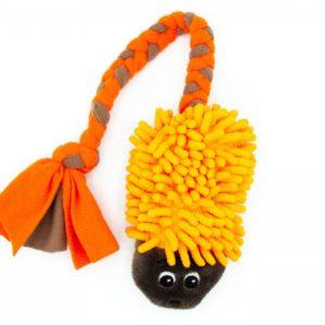 Hundespielzeug Igel Mop mit Fleece