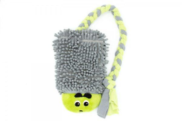 Mop Igel mit Fleece Hundespielzeug