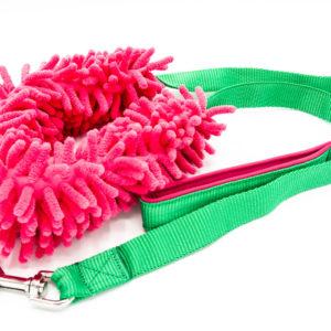 Hundeleine mit Mop Pink
