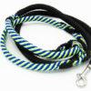 Hundeleine PPM handgemacht Schwarz Grün Blau