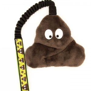 Hundespielzeug Poop mit Bungee