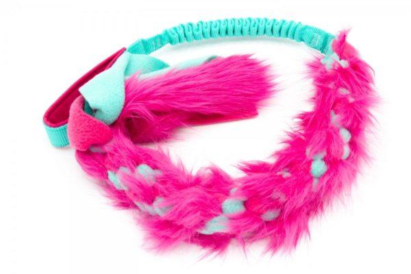 bungee fur fleece pink gruen