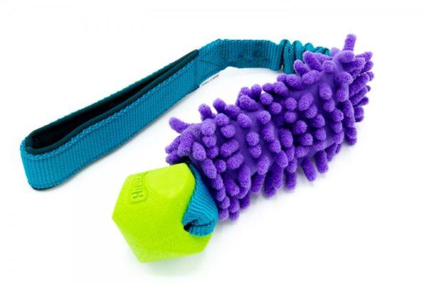 ChuckIt Erratic mit Mop an Bungee Hundespieli