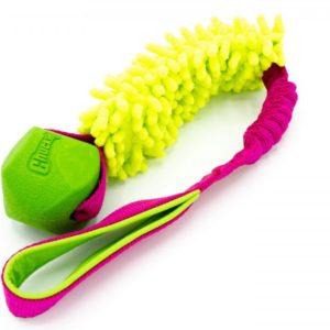 Hundespielzeug ChuckIt Erratic Ball mit Mop an Bungee