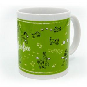 Hundesport-Tasse Dogfrisbee