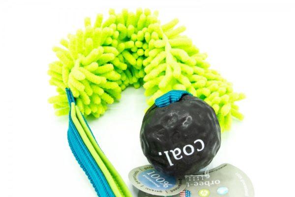 Hundespielzeug mit Mop und Planet Dog Coal Ball