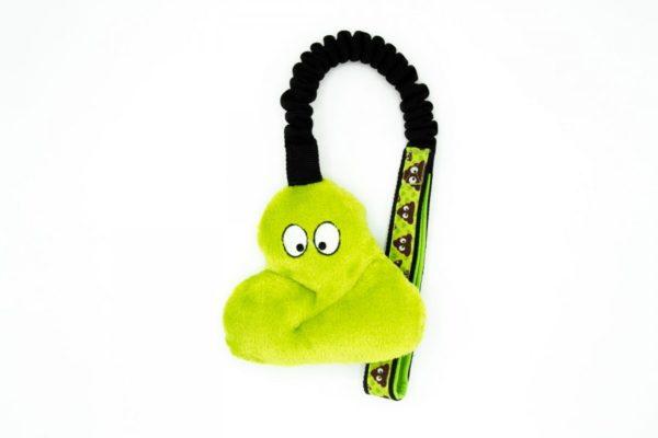 Poop Hundespielzeug mit Bungee in Grün
