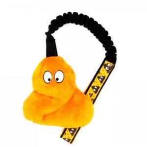 Poop Hundespielzeug mit Bungee in Orange