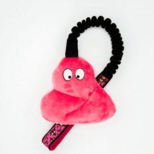 Poop Hundespielzeug mit Bungee in Pink