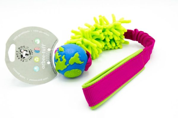 Planet Dog Orbee Worldball mit Mop an Bungee Hundespieli