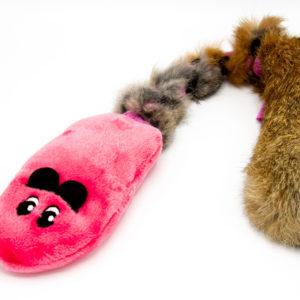 Maus aus Plüsch mit Fell
