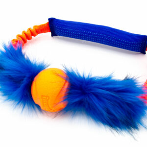 Bungee Fake Fur Tube Ring with Chuckit
